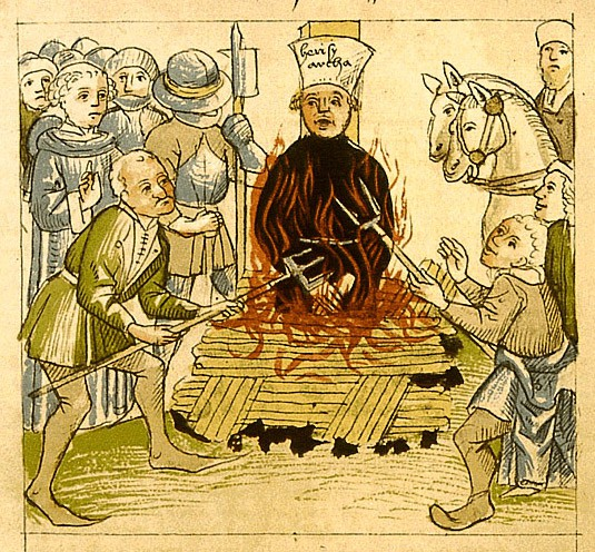 Pyre of the Bohemian  Reformator Jan Hus 1415